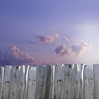 Supervision and training. Fence with clouds